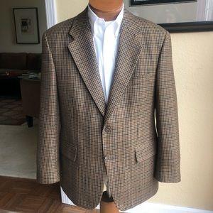 Ralph Lauren CHAPS Wool Tweed 2 Button Coat 42S